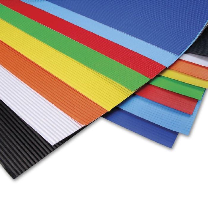 Carton corrugado de colores